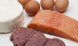 Животные белки содержатся в мясе, яйцах, молочных продуктах